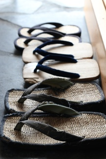 Japanese sandals in entry foyer