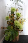 flowers in reception area
